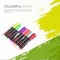 ingrosso penna di scrittura fluorescente-8 colori / scatola 6/8 / 10mm Highlighter Fluorescent Liquid Chalk Marker Pen per la scrittura a LED Menu Board Glass Window Sign