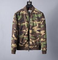 de lazer jaqueta de designer venda por atacado-Venda quente Novo Lazer Personalidade Mens Designer Jaquetas Camuflagem Impresso Gola De Luxo Casaco Com Jaqueta de Moda Blusão