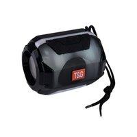 reproductor de mp3 flash light al por mayor-Mini Protable Speaker TG162 Altavoz Bluetooth inalámbrico con luz LED Lámpara de flash Altavoz 5W Bocina Estéreo Subwoofer USB Mp3 Reproductor de música