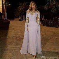 applique flor moderna venda por atacado-Moderno Sereia Vestidos de Noite com Envoltório O Pescoço Apliques 3D Flor Abric Dubai Vestido Formal De Cetim Até O Chão Vestidos de Baile
