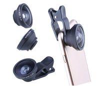caméras à objectif achat en gros de-0.4x Super Grand Angle / macro Selfie Cam Lens Caméra de téléphone pour iPhone 7 7P 8 8P X Samsung S8 S9 Samrtphone