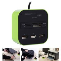 Wholesale mp reader for sale - Group buy 3 Port Usb Hub HUB With Micro Multi Card Reader For SD MMC M2 MS MP Computer Accessories