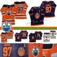 Edmonton Oilers Jerseys 97 Connor McDavid 74 Ethan Bear 29 Leon Draisaitl 99 Wayne Gretzky Adult Size S-3XL All Stitched Hockey Jerseys