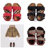 e56602868e6479 Burberry sandals Yeni çocuklar Ayakkabı Kız Prenses Ayakkabı Mavi Kristal  Sandalet Kızlar Cosplay Ayakkabı Mavi PVC Delik Kar Tanesi Sandal çocuklar
