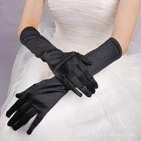 Wholesale sexy gloves men for sale - Group buy Women s Solid color long gloves lady s satin long sunscreen gloves female long sexy gloves R2007