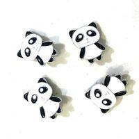 joyas de china noosa trozos al por mayor-Linda 18 mm china Panda Noosa Snap Button Trozos de bricolaje Ginger Snap Button encantos collar de joyas