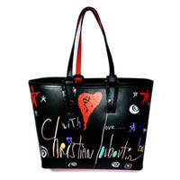 grandes bolsas vermelhas venda por atacado-2019 bcabata bolsas do desenhador totes fundo vermelho composto bolsa famosa marca genuína bolsa de couro Big sacos