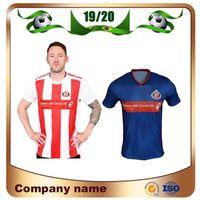 camisas uniformes azuis venda por atacado-19/20 Sunderland Casa Camisola de Futebol 19/20 Sunderland Away Blue # 9 BORINI # 11GRABBAN Camisa de Futebol # 12 MIKA # 18 DEFOE Uniforme de Futebol