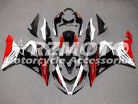 kawasaki için motosiklet parçaları toptan satış-Kawasaki Ninja ZX6R için 3 Hediyeler Yeni ABS Enjeksiyon kalıp Motosiklet Kalafatlama kiti 636 599 2013 2014 2015 2016 2017 Kaporta Siyah Kırmızı set