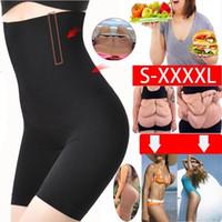 roupas íntimas de barriga venda por atacado-Perder Peso Mulheres Gordura Queima de Cintura Alta Underwear Shaping Cuecas Controle Shapeless Shaper Corpo Shapers