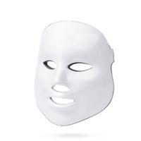 ingrosso maschera di bellezza per il viso-7 colori facciale principale coreano Photon terapia maschera viso maschera di luce acne maschera collo bellezza maschera led