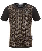 m broca venda por atacado-Novo Designer de Marca T Camisas Para Homens Tops Crânios de Perfuração Hot Mens Vestuário de Manga Curta Tshirt Mulheres Tops M-3XL-8813