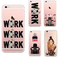 Wholesale iphone 5c s for sale – best Super Star Pattern Soft Clear TPU cases for iphone s plus S C S Case Rihanna S Drake Work case back cover