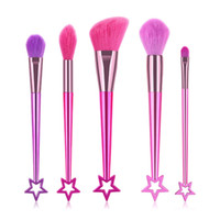 Wholesale best makeup brush hair for sale - Group buy 5pcs Pink Makeup Brushes Purple Powder Blush Brush Cute Sailor Moon Makeup Brush with Star Wand Soft Hair Best Women Xmas Gift
