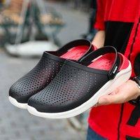 ingrosso buon giardinaggio-Nuovo Design Anti-Slip Zoccoli Scarpe da giardino Classic Zoccoli Good Quality Fashion Uomo Rubber Garden Shoes 2019