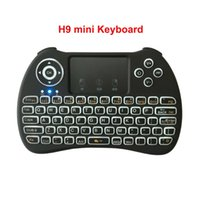 Wholesale touch hands for sale - Group buy Backlit Wireless H9 mini Keyboard Air Mouse GHz Remote control Touchpad Handheld multi touch QWERTY with Backlit for Android TV Box PC