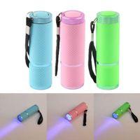 pregos secador preços venda por atacado-Mini LED Lanterna Lâmpada Luz UV Secador de Unhas Portátil para Unhas de Gel 15 s Secagem Rápida Prego Polonês Cura Lâmpada