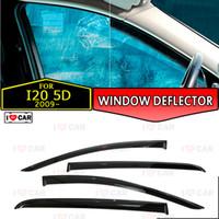 корпус из углеродного волокна оптовых-Окно дефлектор для Hyundai I20 5D 2009- автомобиля окна дефлектора ветра охранника вентиляционного солнце дождь козырек крышка автомобиль декор