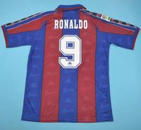 camisetas de fútbol tailandés al por mayor-Tailandia 96 97 Ronaldo retro camisetas de fútbol Inicio de fútbol camisa de 1996 1997 Ronaldo Jersey Classic maillot de pie
