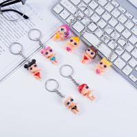 Wholesale handbag keychain fashion for sale - Group buy Surprise Dolls Keychain Big Eye Doll Keyring Fashion Keys Ring Handbag Chain Pendant Cartoon keychains Gift Party Favor GGA2462