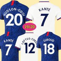 camisetas de futbol tailandia xxl al por mayor-CHELSEA 19 20 Camiseta de fútbol HAZARD JORGINHO CHELSEA soccer jersey de calidad superior de Tailandia 2019 2020 Camiseta de kit de fútbol GIROUD KANTE