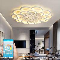 novos lustres de cristal modernos venda por atacado-New modern led candelabros para sala de estar quarto sala de jantar acrílico cristal Interior home candelabro lâmpada luminárias