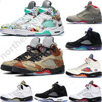 Wholesale oreo 5s basketball shoe for sale - Group buy 2019 New Arrival Michigan s Basketball Shoes Mens Sup Desert Black Grape White Cement P51 Camo oreo Designer Shoes US7
