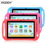 Wholesale case for android tablet inches resale online - T702 Inch Kids Tablet PC Android Quad Core GB GB HD Dual Camera WiFi Portable Tablets For Children Silicone Case