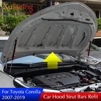 toyota lift venda por atacado-FIT PARA Toyota Corolla 2006-2013 2013-2018 BONNET DO CARRO SUPORTE DO ELEVADOR DE CAPA MOLA CHOQUE STRUT BAR HYDRAULIC ROD CAR STYLING