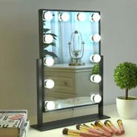 15w führte spiegel großhandel-schwarz weiße farbe veränderbar led schreibtisch lichter, touch control spiegel + licht make-up beleuchtung für schminktisch lampe dimmbare lampe