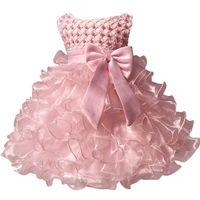 kleider für die taufe großhandel-Baby Kinder Perle Prinzessin Taufe Party Tutu Kleid Für Mädchen Kleinkind Mädchen Taufe Geburtstag Kleid Kleinkind Karneval Vestidos Y19050801