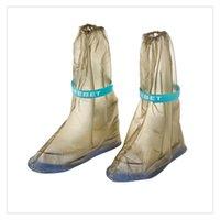 pattern pink rubber shoes großhandel-Tragbare wasserdichte rutschfeste wiederverwendbare Regenüberschuhe Überschuhe Regenstiefel Abdeckung Regenbekleidung Regenmäntel Zubehör, Handlichkeit