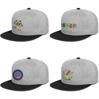 Wholesale blank snap cap hat for sale - Group buy Grateful Dead flower black for men and women snap back flat brimcap ball cool fitted blank personalized hats Family Jam grateful dead