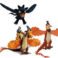schöne große spielsachen großhandel-Wie Drachenzähmen trainieren Toothless Night Firedragon Doll Plüschtiere verschütten Schön aussehende Big Wings Heißer Verkauf 28