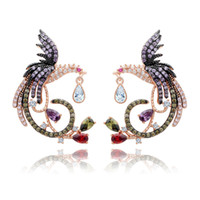ingrosso orecchini a goccia di zircone-Luxury Designer Zircone Orecchini a goccia Gioielli Phoenix Phoenix cinesi gioielli ciondola per le donne Gril regalo