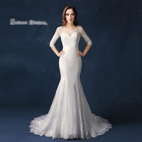 Wholesale cape bridal wedding dress for sale - Group buy Dubai Long Sleeves Lace Cape Style In Stock Wedding Dresses Bateau Neck Maternity Destination Arabic Dress A Line Bridal Ball Gown SW09