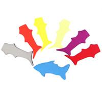 neopren tutucu toptan satış-Köpekbalığı Popsicle tutucu buz popsicle sahipleri neopren pop çocuklar hediye Için buz kol Dondurucu pop pop popsicle kollu FFA2203