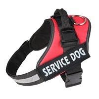 köpekler için koşum yeleği toptan satış-yaka başına Servis köpek Nefes Dog Pet Harness Naylon tasmalar Giyim Aksesuarları Köpek Yelek Tasmalar Naylon Pet Mesh