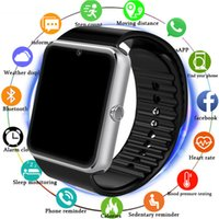 Wholesale big screen phones for online – Bluetooth Smart Watch Men With Touch Screen Big Battery Support TF Sim Card Camera For IOS iPhone Android Phone PK A1