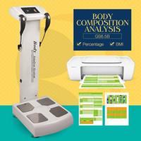 sağlık ekipmanı toptan satış-Vücut Yağ Analyzer Vücut Kompozisyon Analyzer Profesyonel Yağ Analizi Makinesi Sağlık Test Yazıcı Ile Güzellik Ekipmanları Zayıflama Makinesi
