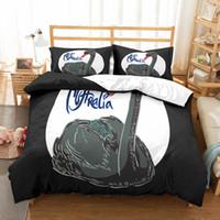 Wholesale swan bedding set king resale online - 3D Black Swan Bedding Set luxury love Duvet Cover with pillowcase set Bed king size comforter set
