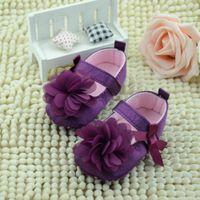 детские эластичные туфли оптовых-2018 Toddler Kid Baby Girl Chiffon Flower Elastic Band Newborn Walking Shoes Baby Shoes Toddler