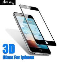 cam i6 toptan satış-3D Tam Kapak koruyucu gözlük iphone 6 s 8 7 Artı Temperli Cam iPhone X Için i8 i7 i6 artı i6plus Ekran Koruyucu Film