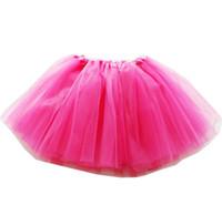 ballettkleidung für mädchen groihandel-Mädchen Tutu Rock 2019 Sommer Kleinkind Boutique Plissee Mini Röcke Party Kostüm A-Line Ballettkleider Kinder Kleidung 19 Farbe 2-8Year A42504