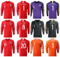 096c5d509 2018 2019 Chile Long Sleeve Jersey Men Soccer 7 SANCHEZ 8 VIDAL 11 VARGAS  17 MEDEL 1 BRAVO 10 VALDIVIA Football Shirt Kits