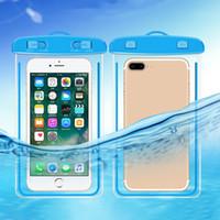 su geçirmez telefon tutacağı toptan satış-PVC kılıf Açık Su Geçirmez Kılıfı Yüzme Plaj Kuru Çanta Kılıf Kapak Tutucu Cep Telefonu için