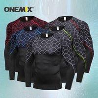 ONEMIX 2019 New Arrival Quick Dry Mens Sports Suits Fitness Jogging Suits Sportwear Comprehensive training suit Men Running Set