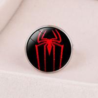 ingrosso fotografia aperta uomo-Style4 Nuovi accessori cross-border American Badge Badge per eroe Raytheon Capitan Spider-Man Anello di regolazione con apertura personalizzata Custom Design Photo Ri