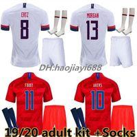 usa fußball socken groihandel-Adult Kit + Socken 2018 2019 USA PULISIC Fußball Trikot 18 19 DEMPSEY BRADLEY ALTIDORE MORGAN America Fußball Trikots United States Shirt