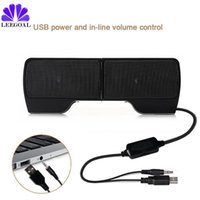 Wholesale computer controller for pc for sale - Group buy Leegoal Clip Speaker Mini Portable Clipon USB Stereo Speakers Line Controller Soundbar for Laptop Notebook PC Computer with Clip
